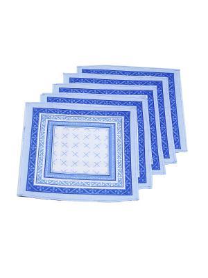 Платок, 15 шт Римейн. Цвет: синий, голубой