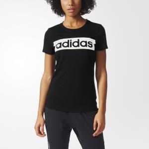 Футболка спортивная ESS LINEAR TEE  Performance adidas. Цвет: черный