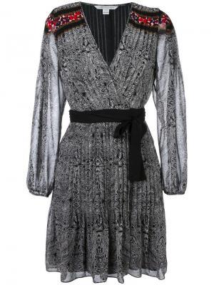 Платье Cabriole Dot Border Diane Von Furstenberg. Цвет: чёрный