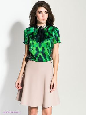 Блузка MICHELLE WINDHEUSER. Цвет: черный, зеленый