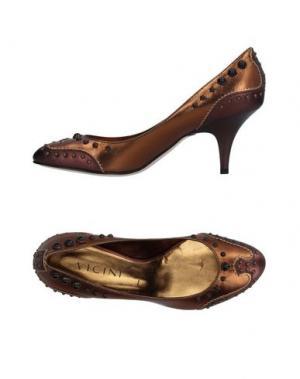 Туфли VICINI. Цвет: бронзовый