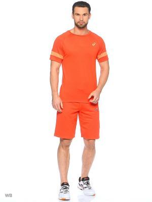 Шорты CAMOU LOGO KNIT SHORT ASICS. Цвет: оранжевый