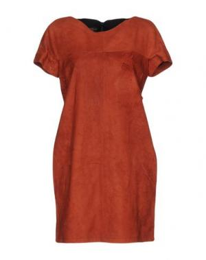 Короткое платье ALVIERO MARTINI 1a CLASSE. Цвет: ржаво-коричневый