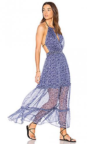 Платье leo SAM&LAVI. Цвет: синий
