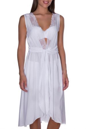 Халат женский Rose&Petal Homewear. Цвет: белый