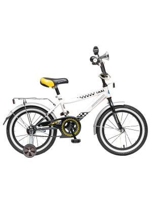Велосипед 16 R Такси NOVATRACK. Цвет: черный, белый