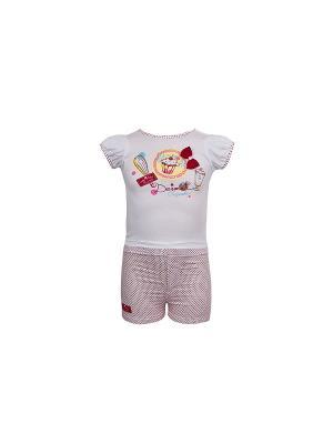 Комплект одежды WWW. Цвет: белый
