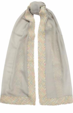 Кашемировый платок Franco Ferrari. Цвет: светло-серый