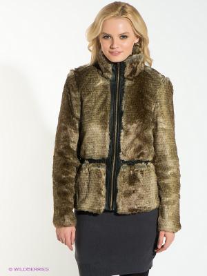 Куртка Vero moda. Цвет: темно-бежевый