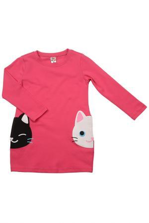 Платье MINI-MAXI. Цвет: малиновый