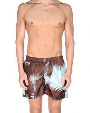 Шорты для плавания FIFTEEN AND HALF. Цвет: темно-коричневый