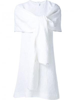Платье с запахом Rosetta Getty. Цвет: белый