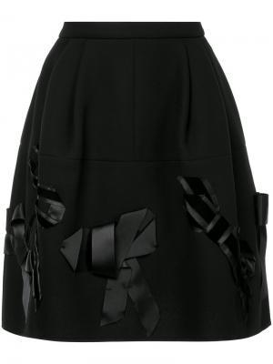 Декорированная юбка Dice Kayek. Цвет: чёрный