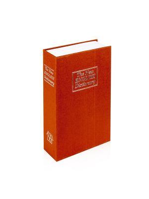 Сейф Книга с ключом, коричневый Aztek. Цвет: коричневый
