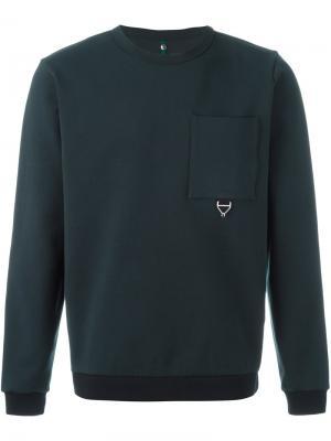 Толстовка с нагрудным карманом Oamc. Цвет: синий