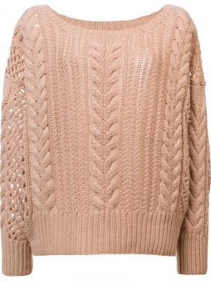 Вязаный свитер Ryan Roche. Цвет: телесный