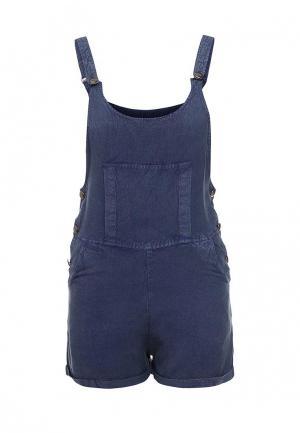 Комбинезон джинсовый QED London. Цвет: синий