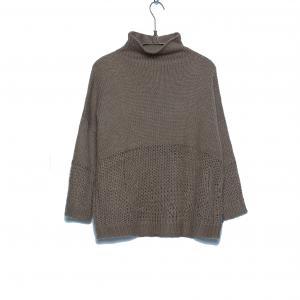 Пуловер с высоким воротником - PRISMA SCHOOL RAG. Цвет: хаки,черный