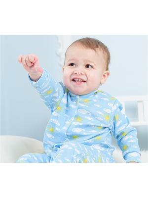 Кофточка Веселый малыш. Цвет: голубой,желтый,белый