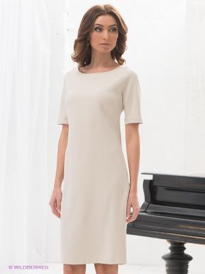 Платье DRS Deerose. Цвет: светло-бежевый