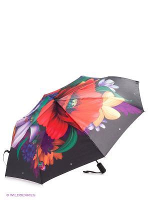 Зонт Flioraj. Цвет: черный, фиолетовый, красный