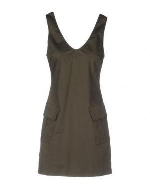 Короткое платье CARLA G.. Цвет: зеленый-милитари