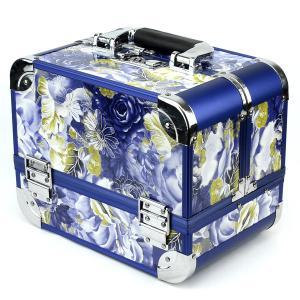 Шкатулка для ювелирных украшений арт.SH-147 Бусики-Колечки. Цвет: синий