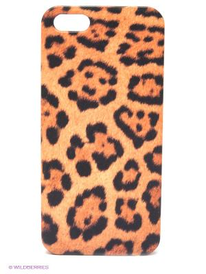 Чехол для IPhone 5 Леопардовый принт Mitya Veselkov. Цвет: оранжевый, черный