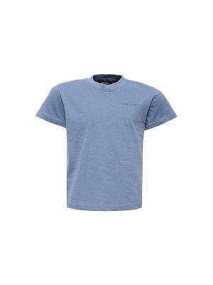Футболка Finn Flare. Цвет: серо-голубой, серебристый, сиреневый