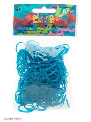 Набор резиночек для творчества RAINBOWLOOM. Цвет: голубой