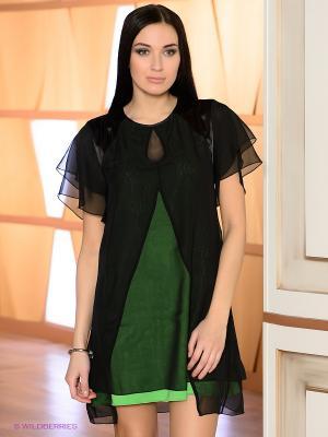 Платье DOCTOR E. Цвет: зеленый, черный