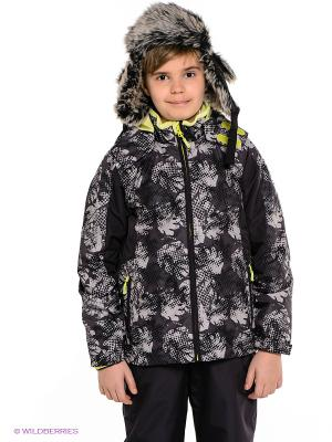 Куртка HUPPA. Цвет: антрацитовый, серый
