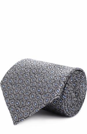 Шелковый галстук с узором Lanvin. Цвет: серый
