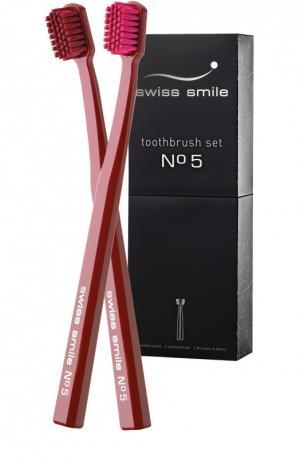 Набор зубных щёток №5 Swiss Smile. Цвет: бесцветный