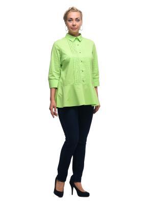 Блузка OLSI. Цвет: салатовый