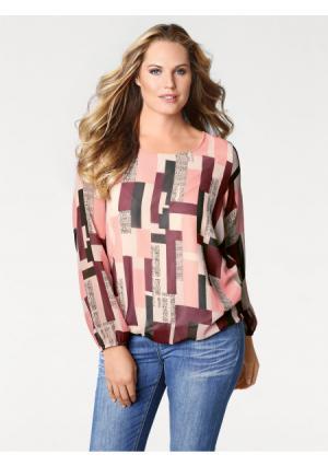 Блузка PATRIZIA DINI by Heine. Цвет: экрю/розовый
