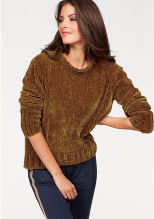 Пуловер Aniston. Цвет: темно-синий