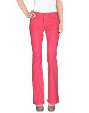 Повседневные брюки 40WEFT. Цвет: фуксия