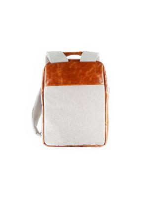 Минималистичный рюкзак ZAVTRA для ноутбука (до 13 дюймов). Цвет: серый, коричневый