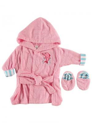Комплект для купания новорожденных Luvable Friends. Цвет: розовый