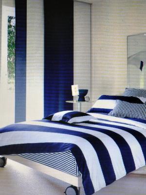 Комплект постельного белья Sofi de Marko. Цвет: белый, синий