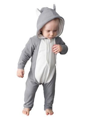 Комбинезон детский Коала FUNKY KOALA HOMESUIT KIDS RIDE. Цвет: серый