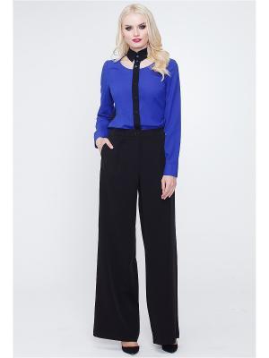 Блузка MARY MEA. Цвет: синий, черный