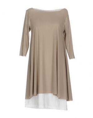 Короткое платье ALMERIA. Цвет: серый