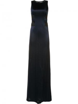 Вечернее платье с вырезными деталями Galvan. Цвет: синий