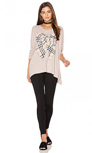 Свободный пуловер mira Lauren Moshi. Цвет: беж