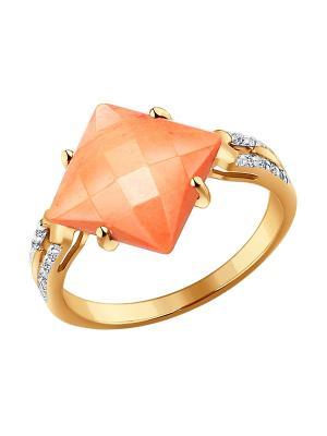 Кольцо SOKOLOV. Цвет: золотистый, оранжевый