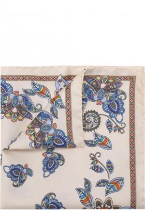 Шелковый платок с принтом Eton. Цвет: бежевый