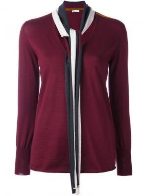 Вязаный свитер Tomas Maier. Цвет: красный