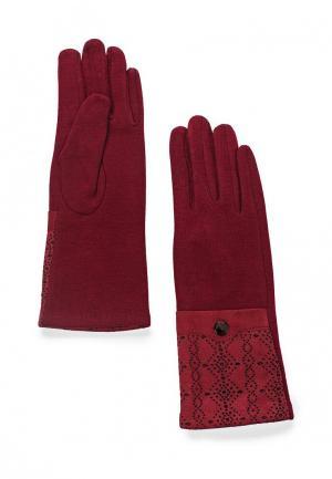 Перчатки Pur. Цвет: бордовый